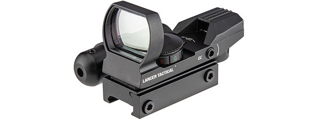 CA-401BB Lancer Tactical 4-Reticle Red/Green Dot Reflect Sight w/ Laser (BLACK)