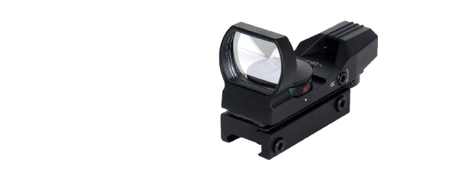 Lancer Tactical CA-401B Red & Green Dot Reflex Sight Black- 4 Reticles