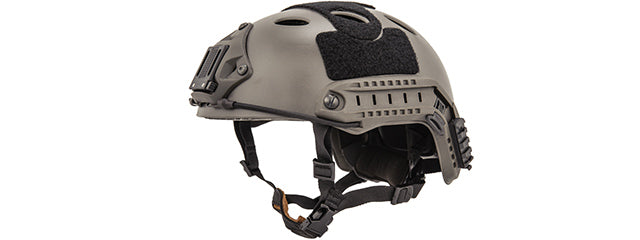 CA-725S Lancer Tactical PJ Airsoft Helmet w/ Side Rails [LG/XL] (FOLIAGE GRAY)