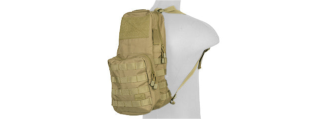 CA-880KN Tactical Molle Hydration Backpack (Coyote Brown)