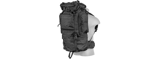 CA-L108B 65L Waterproof Outdoors Trail Backpack (Black)