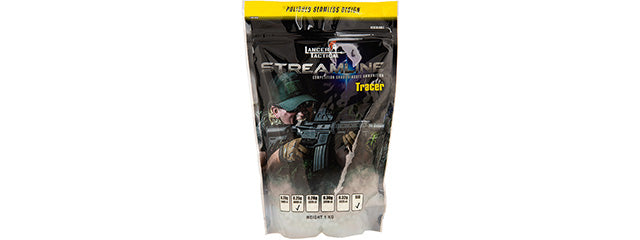 Lancer Tactical Bio-Tracer 0.25g BBs (WHITE), 4000 ct