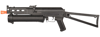 Golden Eagle Airsoft PP-19 Bizon SMG AEG w/side folding stock - Black