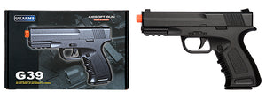 G39B Spring Metal Compact Training Pistol w/ Safety (Black)