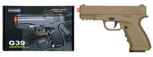 G39T Spring Metal Compact Training Pistol w/ Safety (Dark Earth)