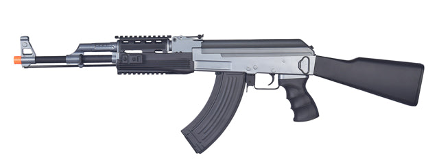 IU-AK47M Tactical AK47 RIS AEG Metal Gear, ABS Body, Fixed Stock