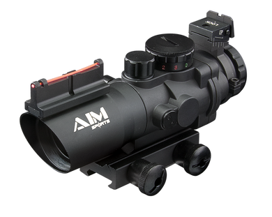 AIM SPORTS 4x32 Tri Illuminated Scope w/ Fiber Optic Sight Arrow PLX Reticle