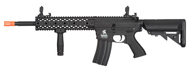 LANCER TACTICAL LT-12B-G2 M4 RIS GEN 2 EVO AEG POLYMER AIRSOFT RIFLE (BLACK)