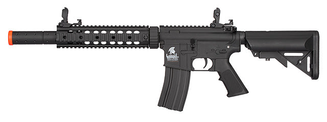 LT-15CBL Lancer Tactical Nylon Polymer M4 Gen 2 SD AEG Airsoft Rifle [LOW FPS] (Black)