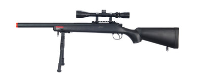 MB02BAB Wellfire Airsoft VSR-10 Bolt Action Sniper Rifle w/ Scope & Bipod - Black