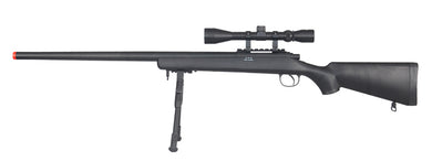 UK ARMS MB07BAB Airsoft VSR-10 Bolt Action Sniper Rifle w/ Scope & Bipod Black