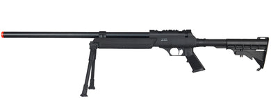 Well MB06BIP Airsoft SR2 Bolt Action Sniper Rifle w/ Bipod - Black