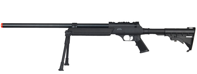 MB06BIP Well Airsoft SR2 Bolt Action Sniper Rifle w/ Bipod - Black