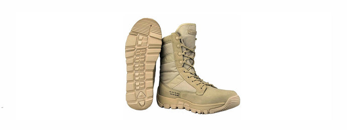 NcStar VISM ORYX Breathable Non-Slip Hight Boots - SIZE 8 (Tan)