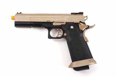 HX1103 AW Custom Hi-Capa Competition Grade Gas Blowback Airsoft Pistol (Color: Flat Dark Earth Slide)