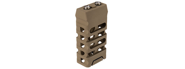 RA-T013A1-T Ranger Armory Skeletonized Straight Cut Keymod Short Vertical Foreward Grip (Tan)