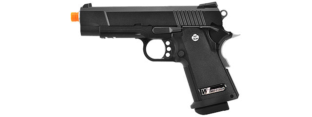 WE-H010 WE-Tech Full Metal Hi-Capa 4.3 Compact Gas Blowback Airsoft Pistol (BLACK)