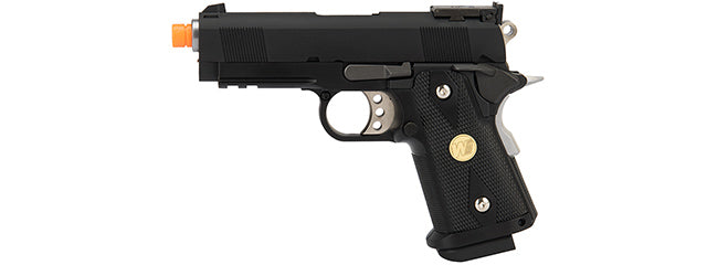 WE Tech 1911 3.8 Baby Hi-Capa Gas Blowback Airsoft Pistol [Version B] (BLACK)