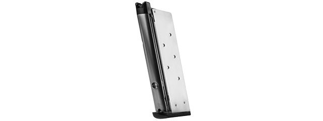 WE M1911 MEU Single Stack 15rd Airsoft Gas Blowback Magazine (Silver)