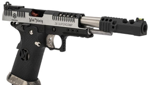 "AW Custom HX2401 ""Wind Velocity"" Silver Airsoft Gas Blowback Pistol"