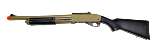 JAG Arms Scattergun HD Tan Gas Shotgun Airsoft Gun (Standard Tube)