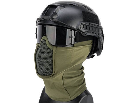 Matrix Shadow Fighter Headgear w/ Mesh Mouth Protector (Color: OD Green)