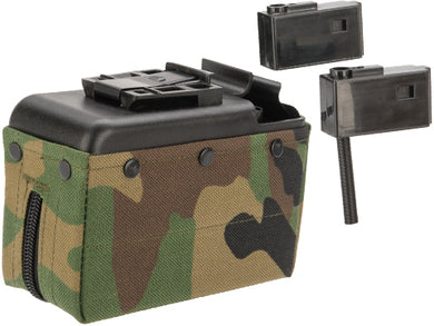 A&K 1500 Round Box Magazine for Airsoft M249 Series AEG (Color: Camo)