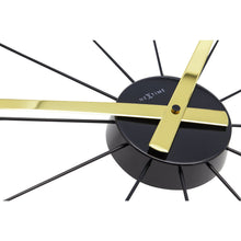 Load image into Gallery viewer, NeXtime - Wall clock – Ø 58 cm – Stainless Steel - Gold - 'Plug Inn'