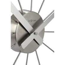 Load image into Gallery viewer, NeXtime - Wall clock – Ø 58 cm - Stainless Steel - Plastic - Silver - 'Plug Inn'