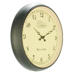 NeXtime - Wall clock – Ø 35 cm - Metal - Glass - Black - 'Aaltje'