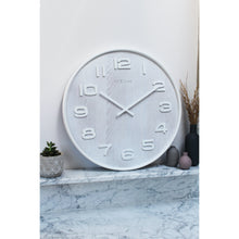 Load image into Gallery viewer, NeXtime - Wall clock – 52.8 x 3 cm - Wood - White - 'Wood Wood Big'