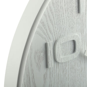 NeXtime - Wall clock – 52.8 x 3 cm - Wood - White - 'Wood Wood Big'