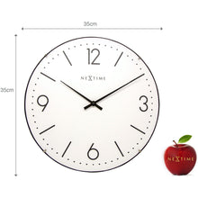Load image into Gallery viewer, NeXtime - Wall clock - Ø 35 cm  - Dome Glass - White- 'Basic Dome'