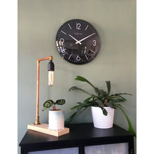 Load image into Gallery viewer, NeXtime - Wall clock - Ø 35 cm  - Dome Glass - Black - 'Basic Dome'
