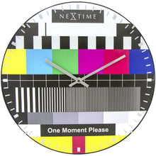 Load image into Gallery viewer, NeXtime - Wall clock - Ø 35 cm  - Dome Glass - Multi-color - 'Testpage Dome'