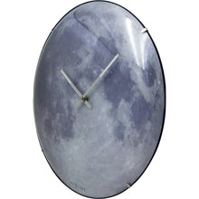 Load image into Gallery viewer, NeXtime - Wall clock - Ø 35 cm  - Dome Glass - Glow-in-the-dark-  'Blue Moon dome'
