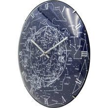 Load image into Gallery viewer, NeXtime - Wall clock – Ø 35 cm  - Dome Glass - Glow-in-the-dark- 'Milky Way dome'