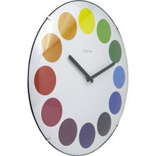 Load image into Gallery viewer, NeXtime - Wall clock - Ø 35 cm  - Dome Glass - White - 'Dots dome'