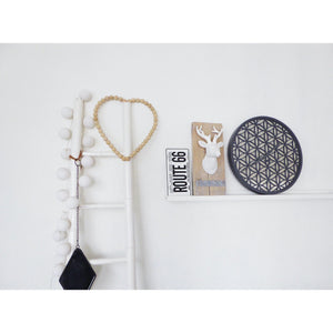 NeXtime - Wall clock - Ø 50 cm - Wood/Mirror – Grey- 'Bella Mirror'