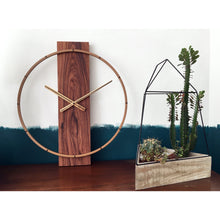 Load image into Gallery viewer, NeXtime - Wall clock – 50.8 x 58.2 x4.3 cm - Wood/Steel - Brown