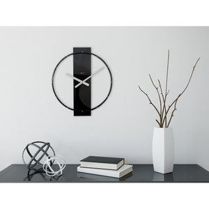 NeXtime - Wall clock – 50.8 x 58.2 x 4.3 cm - Wood/Steel - Black