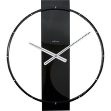 Load image into Gallery viewer, NeXtime - Wall clock – 50.8 x 58.2 x 4.3 cm - Wood/Steel - Black