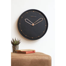 Load image into Gallery viewer, NeXtime - Wall clock - Ø 35 cm - Polyresin – Black – 'Cross'