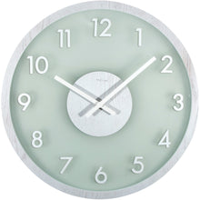 Load image into Gallery viewer, NeXtime - Wall clock - Ø 50 cm - Wood/Glass – White – 'Frosted Wood'
