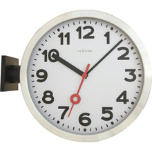 Load image into Gallery viewer, NeXtime - Wall clock - Ø 36 cm - Aluminum/Glass – White – 'Station Double'
