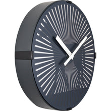 Load image into Gallery viewer, NeXtime - Wall clock- Ø 30 cm – Plastic – Motion clock- Black – 'Walking Horse'