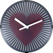 Load image into Gallery viewer, NeXtime - Wall clock- Ø 30 cm – Plastic – Motion clock- Black – 'Motion Heart – Red'
