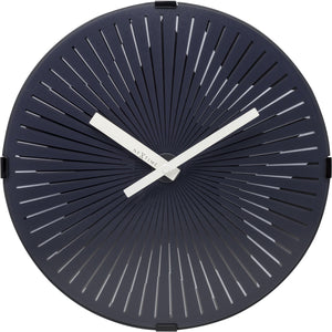 NeXtime - Wall clock- Ø 30 cm – Plastic – Motion clock- White – 'Motion Star – White'