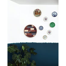 Load image into Gallery viewer, NeXtime - Wall clock- Ø 45 cm – Wood – Various colors – 'Patch Wood'