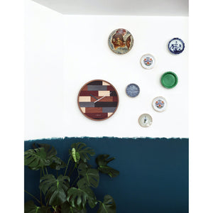 NeXtime - Wall clock- Ø 45 cm – Wood – Various colors – 'Patch Wood'